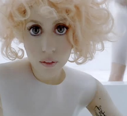 "If you thought that Lady Gaga's large doe-eyes in her ""Bad Romance"" video"